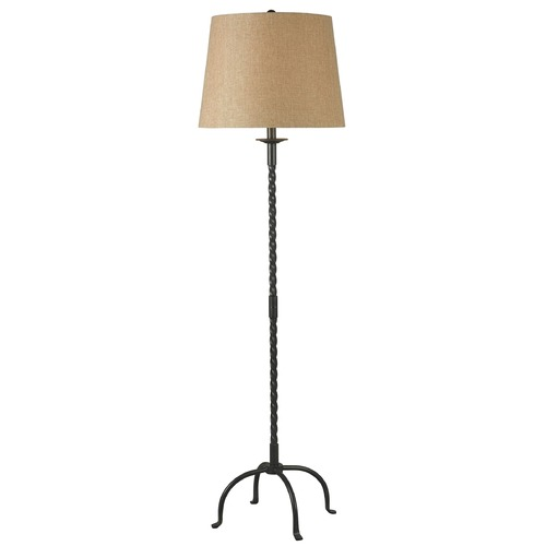 Kenroy Home Lighting Floor Lamp with Beige / Cream Shade in Bronze Finish 32183BRZ