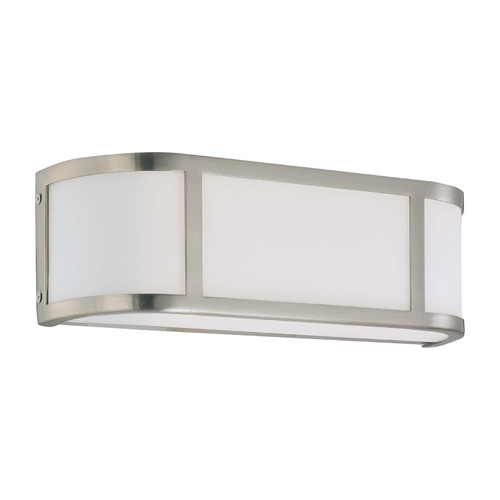 Nuvo Lighting Bathroom Light with White Glass in Brushed Nickel Finish 60/2871