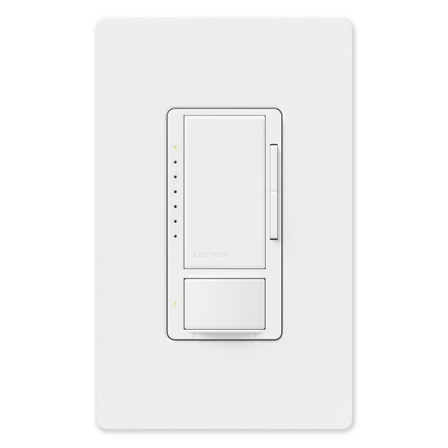 Lutron Dimmer Controls 600-Watt Switch with Occupancy/Vacancy Sensor MS-OP600MH-WH