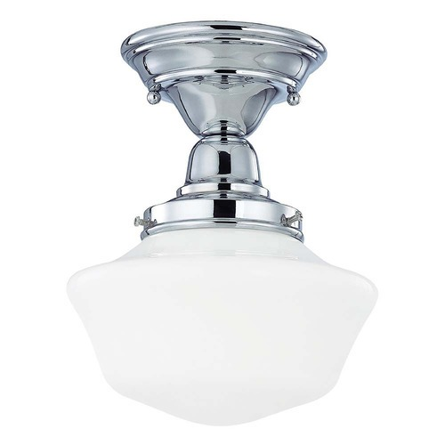 Design Classics Lighting 8-Inch Vintage Style Schoolhouse Semi-Flushmount Ceiling Light FBS-26 / GA8
