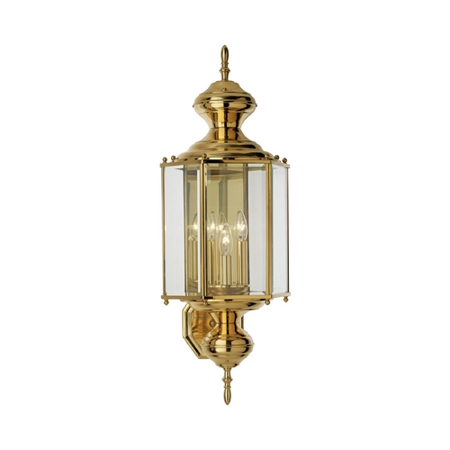 Progress Lighting Progress Outdoor Wall Light with Clear Glass in Polished Brass Finish P5730-10