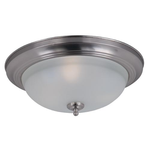 Maxim Lighting Maxim Lighting Flush Mount Ee Satin Nickel Flushmount Light 85842FTSN