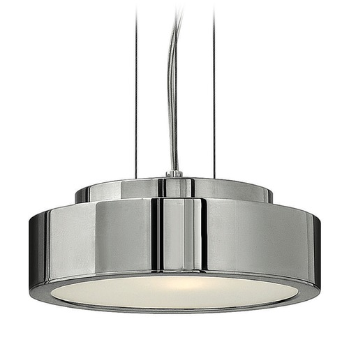 Frederick Ramond Frederick Ramond Broadway Polished Aluminum Mini-Pendant Light with Cylindrical Shade FR41439PAL