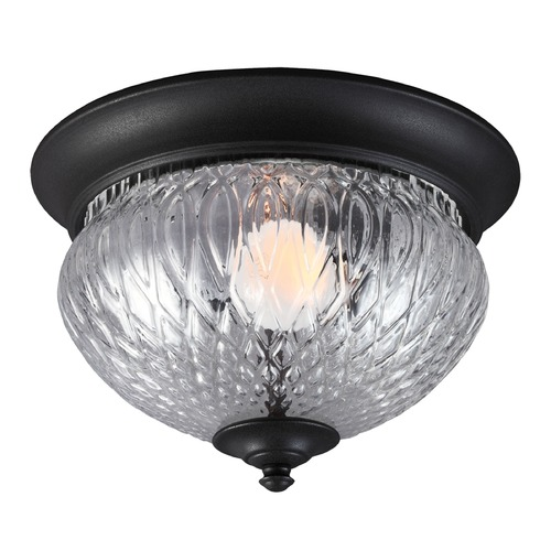 Sea Gull Lighting Sea Gull Lighting Garfield Park Black Close To Ceiling Light 7826401BLE-12