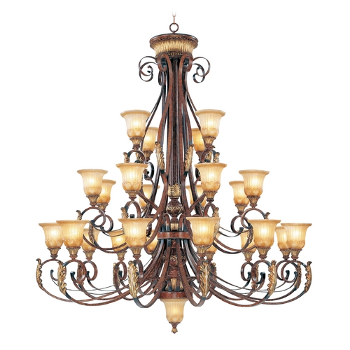 Livex Lighting Livex Lighting Villa Verona Bronze with Aged Gold Leaf Accents Chandeliers with Center Bowl 8589-63