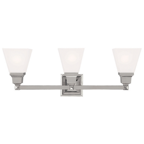 Livex Lighting Livex Lighting Mission Polished Nickel Bathroom Light 1033-35