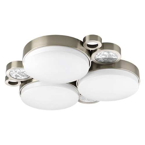 Progress Lighting Progress Lighting Bingo Brushed Nickel LED Flushmount Light P3747-0930K9