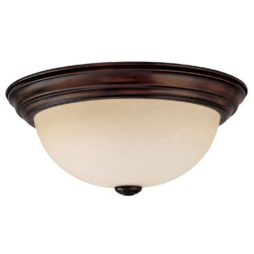 Capital Lighting Capital Lighting Burnished Bronze Flushmount Light 2743BB