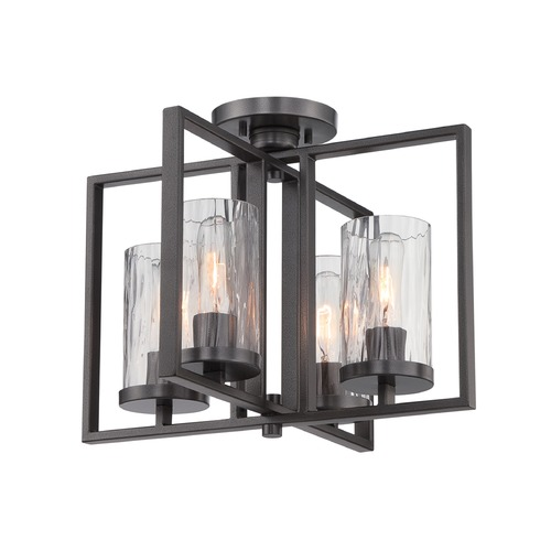 Designers Fountain Lighting Designers Fountain Elements Charcoal Semi-Flushmount Light 86511-CHA