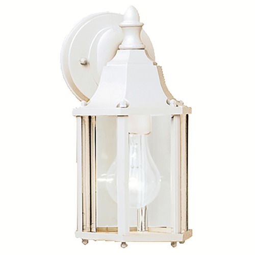 Kichler Lighting Kichler Outdoor Wall Light with Clear Glass in White Finish 9774WH