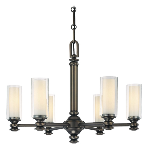 Minka Lavery Chandelier with Clear Glass in Harvard Ct. Bronze Finish 4366-281