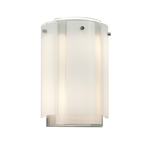 Sonneman Lighting Sconce Wall Light with White Glass in Polished Chrome Finish 3180.01