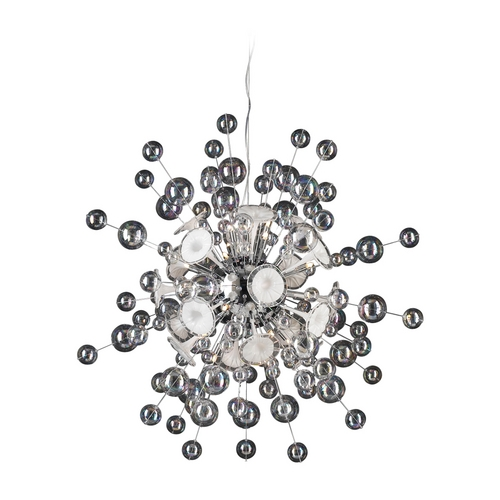 PLC Lighting Modern Pendant Light in Polished Chrome Finish 81388 PC