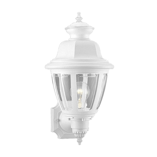 Progress Lighting Progress Outdoor Wall Light with Clear in White Finish P5737-30
