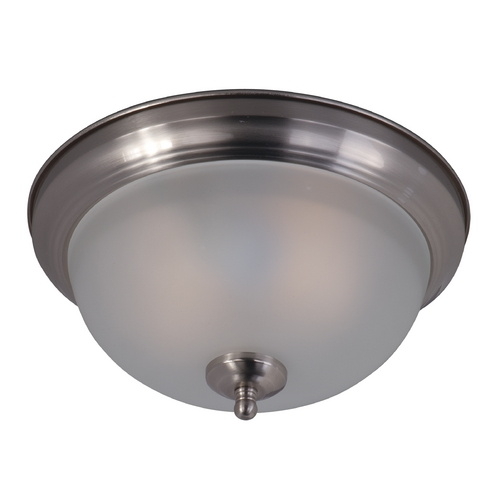 Maxim Lighting Maxim Lighting Flush Mount Ee Satin Nickel Flushmount Light 85849FTSN