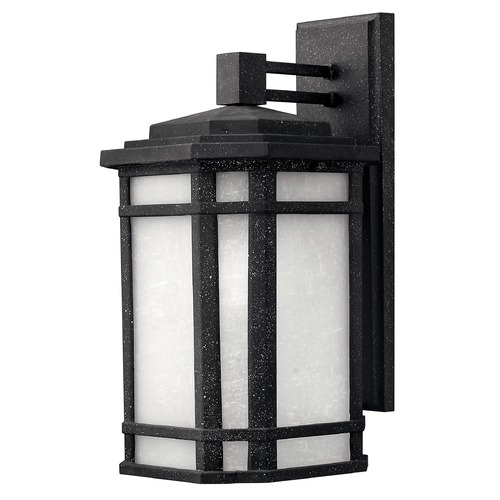 Hinkley Lighting LED Outdoor Wall Light with White Glass in Vintage Black Finish 1274VK-LED