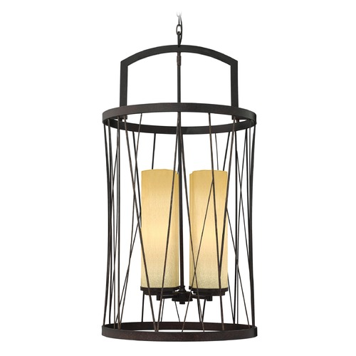 Frederick Ramond Frederick Ramond Nest Oil Rubbed Bronze Pendant Light with Cylindrical Shade FR41624ORB