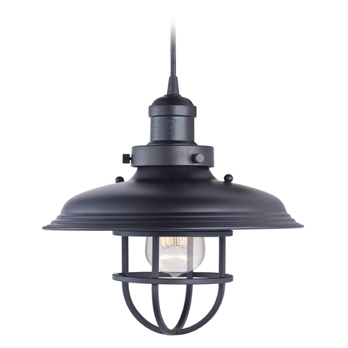 Maxim Lighting Maxim Lighting Mini Hi-Bay Bronze Pendant Light with Bowl / Dome Shade 25031BZ