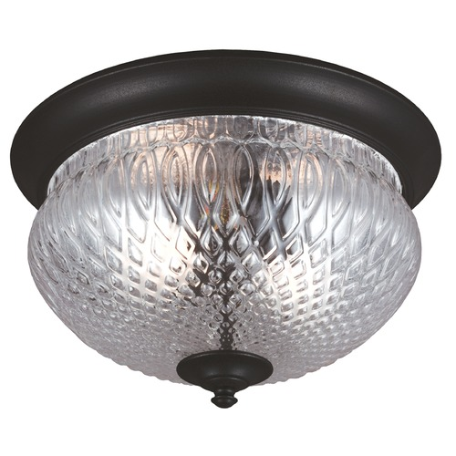 Sea Gull Lighting Sea Gull Lighting Garfield Park Black Close To Ceiling Light 7826402BLE-12