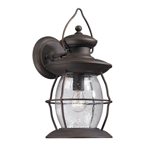 Elk Lighting Outdoor Wall Light with Clear Glass in Weathered Charcoal Finish 47042/1