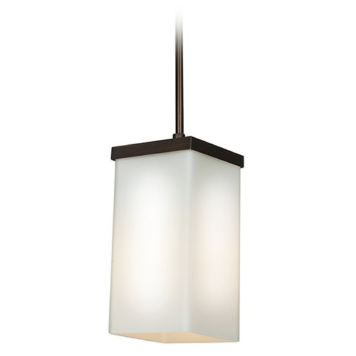 Access Lighting Access Lighting Basik Oil Rubbed Bronze Mini-Pendant Light with Rectangle Shade 23638-ORB/OPL