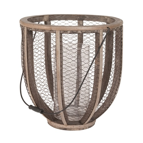 Elk Lighting Barrel Wire Atlas Hurricane Vase 594028