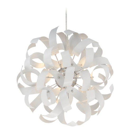 Quoizel Lighting Quoizel Ribbons White Lustre Pendant Light RBN2817W