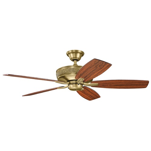 Kichler Lighting Kichler Lighting Monarch Ii Natural Brass Ceiling Fan Without Light 339013NBR