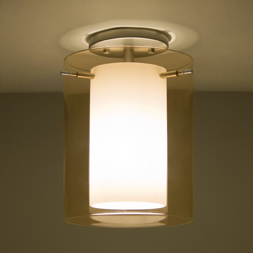 Besa Lighting Besa Lighting Pahu Satin Nickel Semi-Flushmount Light 1KM-G00607-SN