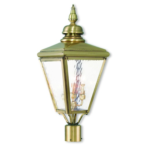 Livex Lighting Livex Lighting Cambridge Antique Brass Post Light 20433-01