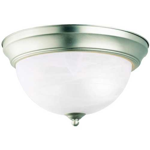 Kichler Lighting Kichler Flushmount Light with White Glass in Brushed Nickel Finish 10835NI