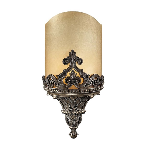 Metropolitan Lighting Sconce Wall Light with Beige / Cream Glass in Aged Bronze Finish N2491-26