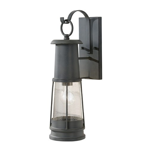 Feiss Lighting Outdoor Wall Light with Clear Glass in Storm Cloud Finish OL8101STC