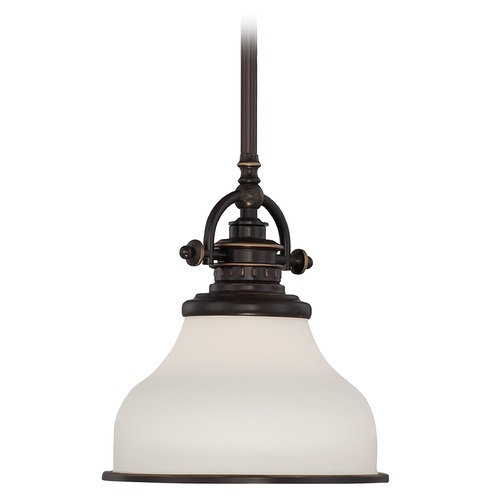 Quoizel Lighting Farmhouse Mini-Pendant Light Bronze Grant by Quoizel Lighting GRT1508PN