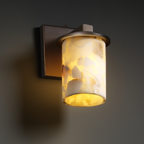 Justice Design Group Justice Design Group Alabaster Rocks! Collection Sconce ALR-8771-10-DBRZ