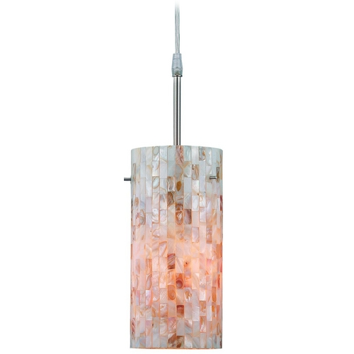 Lite Source Lighting Modern Mini-Pendant Light with Art Glass LS-19381