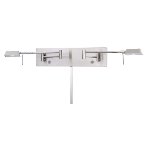 George Kovacs Lighting Modern LED Swing Arm Lamp in Brushed Nickel Finish P4319-084