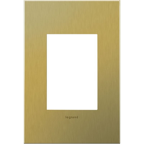 Legrand Adorne Legrand Adorne Brushed Brass 1-Gang 3-Module Switch Plate AWC1G3BB4
