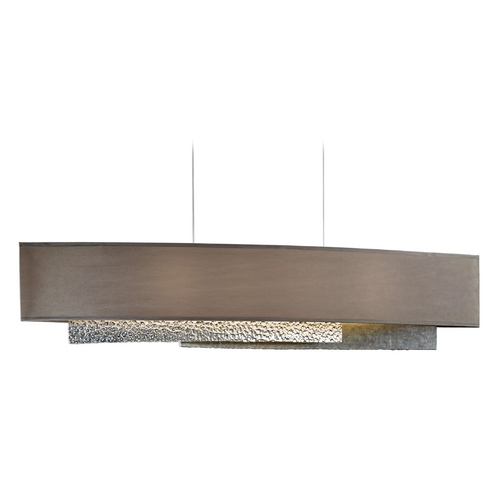 Hubbardton Forge Lighting Hubbardton Forge Lighting Oceanus Vintage Platinum Island Light with Rectangle Shade 137675-SKT-STND-82-SD4279