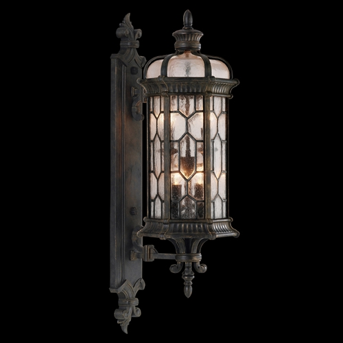 Fine Art Lamps Fine Art Lamps Devonshire Antiqued Bronze Outdoor Wall Light 413881ST
