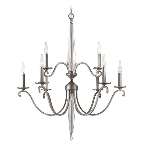 Savoy House Savoy House Lighting Kendall Vintage Nickel Chandelier 1-381-9-43