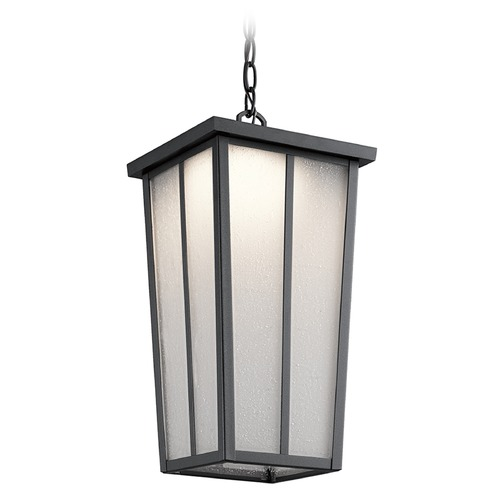 Kichler Lighting Kichler Lighting Amber Valley Textured Black LED Outdoor Hanging Light 49626BKTLED
