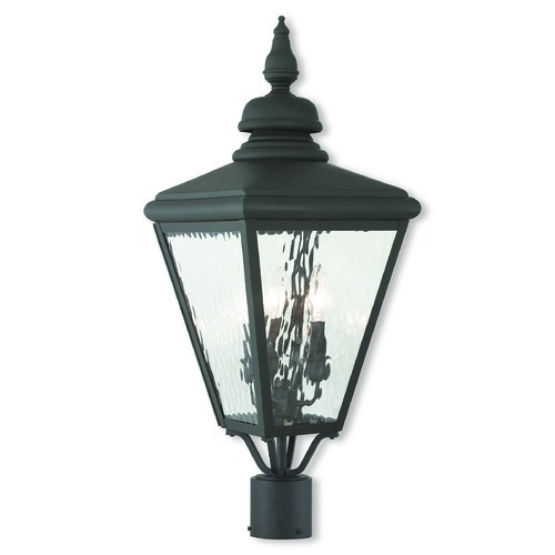 Livex Lighting Livex Lighting Cambridge Black Post Light 20433-04