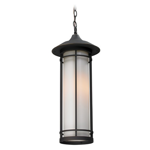Z-Lite Z-Lite Woodland Oil Rubbed Bronze Outdoor Hanging Light 530CHM-ORB