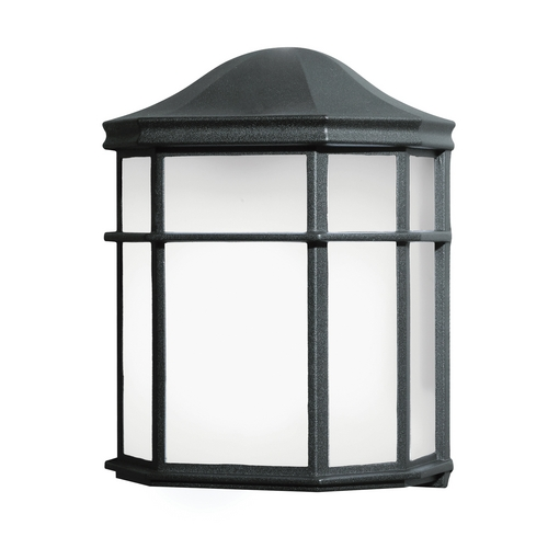 Kichler Lighting Kichler Outdoor Wall Light with White Glass in Black Finish 10941BK