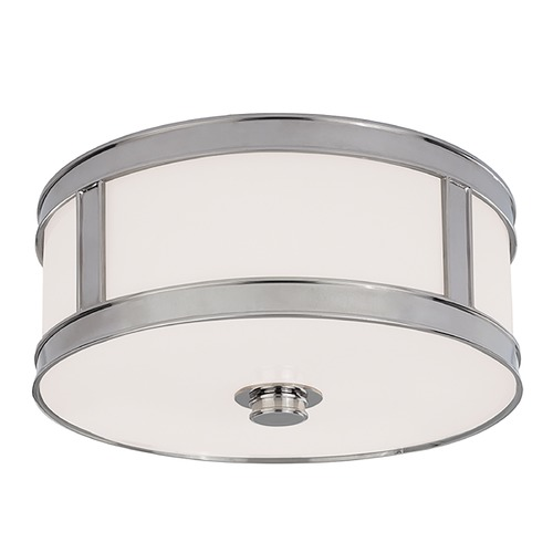 Hudson Valley Lighting Flushmount Light with White Glass in Polished Nickel Finish 5513-PN