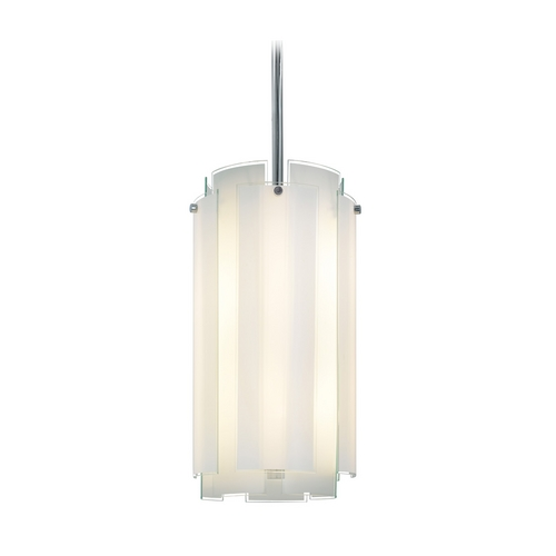Sonneman Lighting Pendant Light with White Glass in Polished Chrome Finish 3182.01