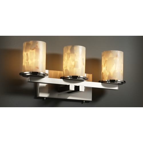 Justice Design Group Justice Design Group Alabaster Rocks! Collection Bathroom Light ALR-8773-10-NCKL