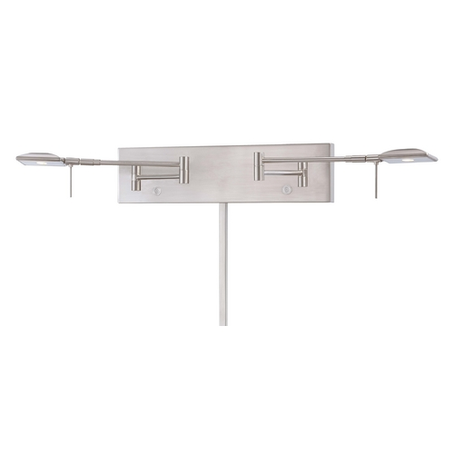 George Kovacs Lighting Modern LED Swing Arm Lamp in Brushed Nickel Finish P4329-084