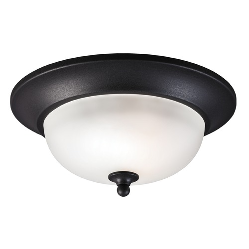 Sea Gull Lighting Sea Gull Lighting Humboldt Park Black Close To Ceiling Light 7827401BLE-12